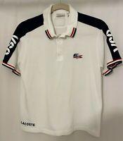 Lacoste Sport USA Red White Blue Flag Crocodile #16 Pique Polo Shirt FR6 USA XL