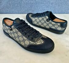 Gucci Men's GG Guccissima Blue Sneakers Size 8 G = 9 US *Authentic*