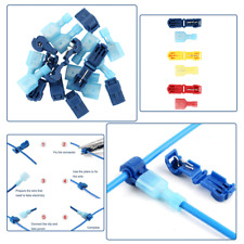 60Pcs 10-22 AWG Insulated T-Taps Splice Wire Terminal Connectors Combo Set