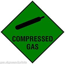 SMALL 50X50MM COMPRESSED GAS STICKER DECAL TAXI CARAVAN MOTOR HOME VAN