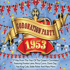 CD CORONATION PARTY 1953 27 HITS LAINE COMO DAY COLE FISHER DAMONESINATRA ETC