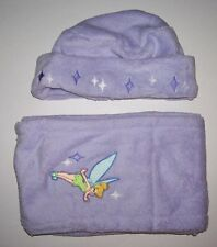 DISNEY TINKER BELL HAT AND SCARF SET WOMENS LAVENDER PURPLE NWT