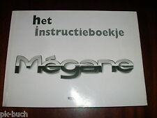 Betriebsanleitung / Handleiding / Instructieboekje Renault Megane ,Stand 1998