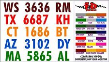BOAT REGISTRATION NUMBER DECALS - 2 minute installation - FREE SHIPPING