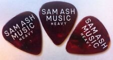 3 Vintage Sam Ash Guitar Picks Lot Heavy Gauge Tortoise Celluloid NOS Collectors