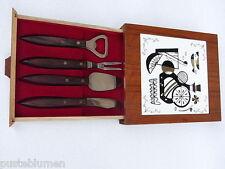 Teak Menü Tisch Design Party Set Kachel 60er Fliese Danish modern