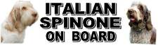 ITALIAN SPINONE  ON BOARD Car Sticker By Starprint