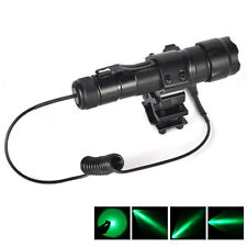 WF-502B Green Q5 LED Flashlight Torch+Mount light Gun+Pressure Switch