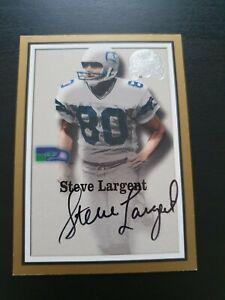 Steve Largent 2000 Fleer American Football Auto Card NFL Seattle Seahawks