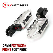 For Triumph Legend TT 98-2001 Silver CNC Extended Rider Touring Footpegs Pedals