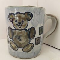 Louisville Stoneware Teddy Bear ABC Cup Mug Kentucky Pottery Child Dinnerware