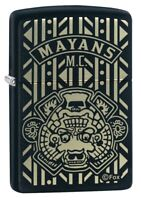 Zippo Mayans M.C. Pattern Black Matte Windproof Pocket Lighter, 49087