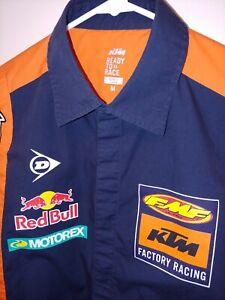 KTM Factory Racing Medium Motocross Pit Crew Shirt Troy Lee Designs Red Bull