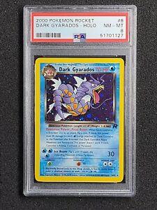 PSA 8 Pokemon DARK GYARADOS Card Unlimited TEAM ROCKET Set 8/82 Holo  2000