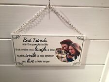 PERSONALISED PHOTO FRIENDSHIP CUSTOM MADE QUOTE PLAQUE SIGN FOR BEST FRIEND GIFT