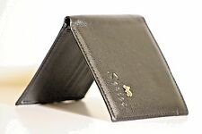 New Vintage Men's Wallet Fine Bifold Black Bicast Leather Wallet