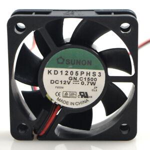 SUNON KD1205PHS3 12V 0.7W 5CM 5015 3-wire speed mute cooling fan