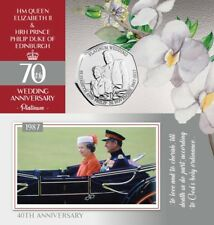 Platinum Wedding Limited Edition Exclusive Proof-Like 2017 50p Coin - Part 3