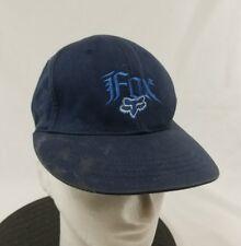 Fox Racing Talla L XL Azul Flexfit Béisbol Cap Hat Lid bien gastada paliza 72cf2d8ca19