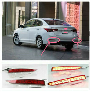 Fit For Hyundai Accent 2018-2020 LED Brake Warning Lights/ Rear Fog Lights 2pcs