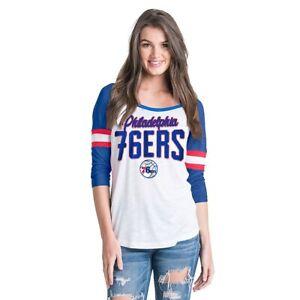 Philadelphia 76ers NBA Women's Slub Jersey Striped Tee, Size 2XL, New With Tag