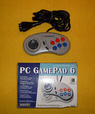 Controller JOYPAD - PC GAMEPAD 6 - 6 Fire Buttons - ALL IBM & Compatible PC's