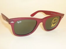 New  RAY BAN  Original WAYFARER  Sunglasses  RB 2140 888  Matte Red Frame  50mm