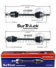 Mitsubishi Eclipse Galant 3.0L V6 Pair of Front CV Axle Shafts SurTrack Set