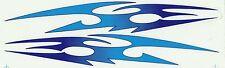 PLANCHE TUNING 2 AUTOCOLLANT STICKER TRIBAL BLEU TURQUOISE DIMENSION 27,5 X 4 CM
