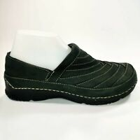 Teva Vaana Walking Slip On Dark Charcoal Women Suede Clog 6399 US 9 EU 40 UK 7.5