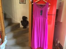 maggie Me midi dress. Fuchsia pink 14-16 sleeveless FLOTY new with tags party