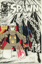 SPAWN #10 by Todd McFarlane & Dave Sim 1993 FN/NM SIGNED by Dave Sim CEREBUS