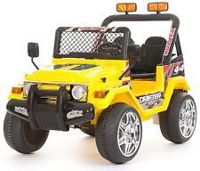 Auto Macchina Elettrica per Bambini Jeep Safari 12V Con telecomando Giallo