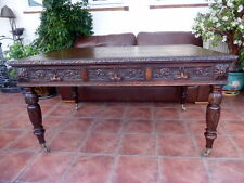 VICTORIAN COUNTRY OAK EDWARDS AND ROBERTS  PARTNERS  DESK  FREE SHIPPING ENGLAND