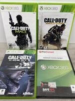 Lot Of 4 XBOX 360 Call Of Duty Games Tested Battlefield 3 Ghosts MW3 Advances WF
