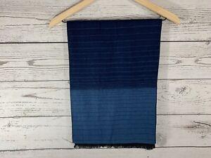 Banana Republic Mens Shades Of Blue Striped Wool Blend Long Scarf 74 x 12.5 NWT