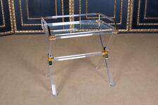Hochwertiger Acryl Servier Tablett Tisch mit Messing L. 70 cm x H. 72 cm