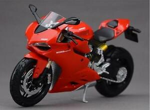 Collection Diecast 1/12th Motorcycle Model Toy 1199 Panigale Children Gift Red