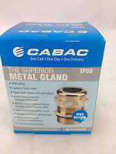 CABAC	GU63	Metal Gland: Cable OD 32-42mm IP68