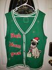 EUC Bah Hum Pug Size XL Ugly Christmas Sweater Vest Womens Dog