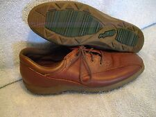 EASY SPIRIT Women's Shoes SIZE 7 B AA BROWN LEATHER OXFORDS  EXC