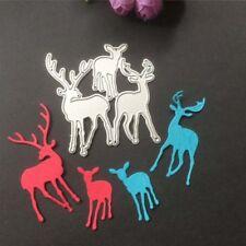 Christmas Deer Cutting Dies Stencil For Scrapbooking Paper Card Embossing Craft
