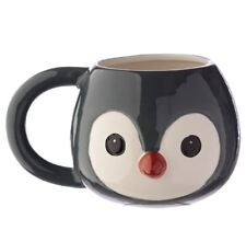 NOVELTY PENGUIN HEAD 3D STYLE ANIMALS COFFEE MUG CUP NEW IN GIFT BOX