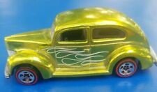 Redline 36 ford coupe Hot wheels  goldish green classic 1982 white pin striped