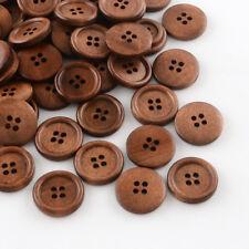 10 Dark Wood Wooden Buttons 20mm Sewing crafts Scrapbook Button art Knitting