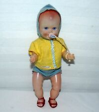 """Vintage Baby Doll Made In Italy Soft Light Plastic 9 1/2"""""""