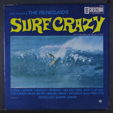 BOB VAUGHT & RENEGAIDS: Surf Crazy LP (Mono, WLP, punch hole, rubber stamps/wob