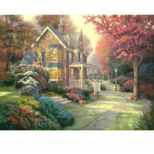 Paint by Number Kit Rural House Autumn Home Landscape Wall Art DIY Oil Painting
