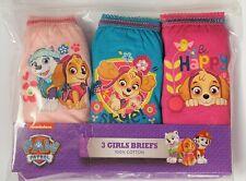 3PK Girls PAW PATROL BRIEFS Kids Pants Infants Knickers Age 18m 2 3 4 5 Yrs Baby