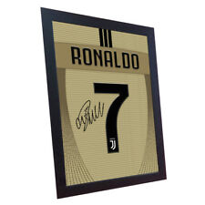 Cristiano Ronaldo Juventus Away signed art printed on Canvas 100% Cotton Framed